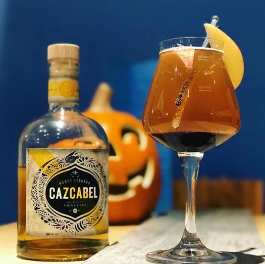 Honey Tequila Liqueur, Ginger Beer, Apple Cider, Pomegranate Syrup